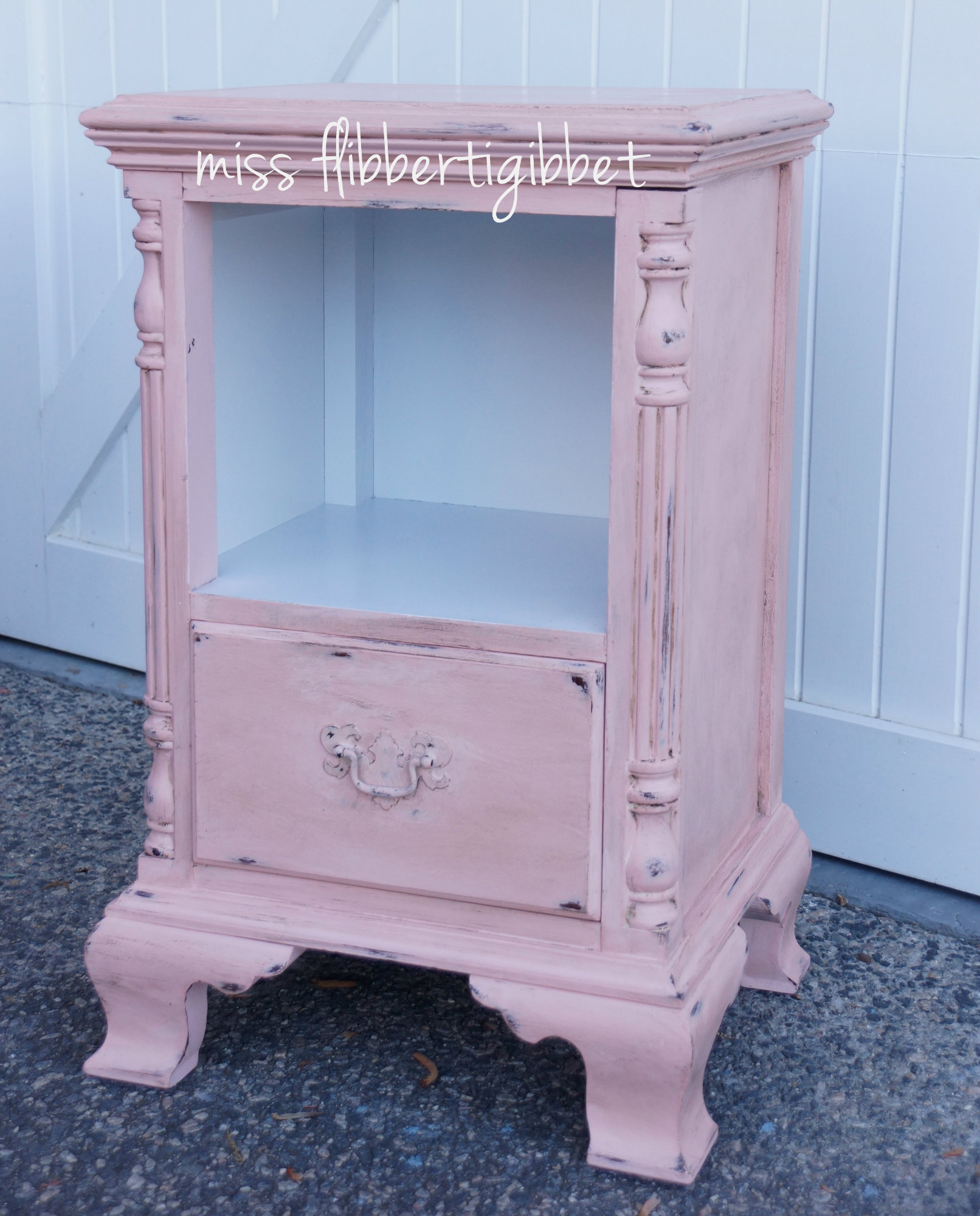 little pink nightstand miss flibbertigibbet