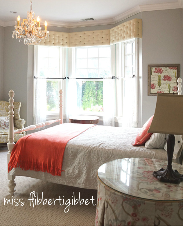 Coral And Gray Bedroom: Creating A Guest Room: Gray And Coral
