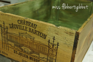 Milk Painted Wine Crate